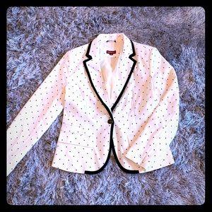 Black and White polka dot Merona suit jacket